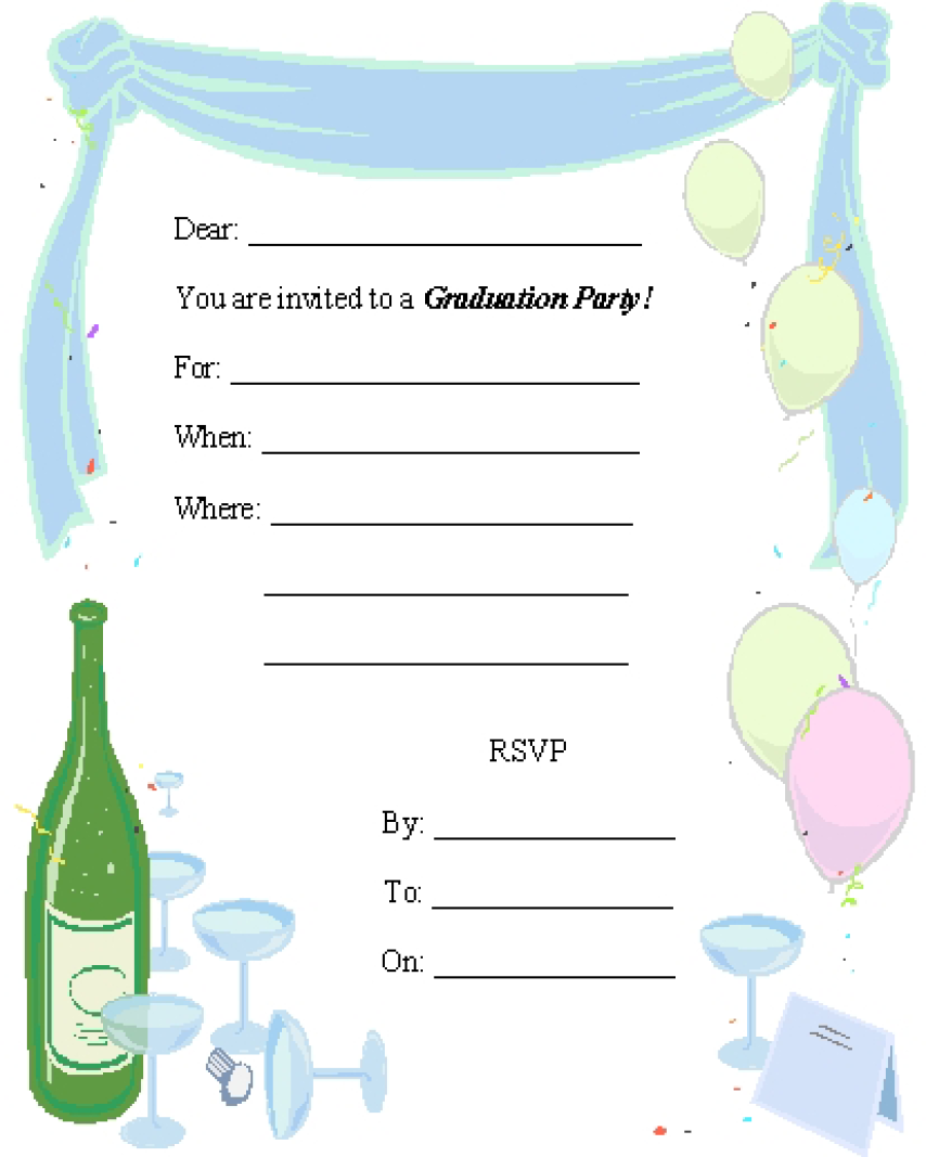 Farewell Party Invitation Template 02