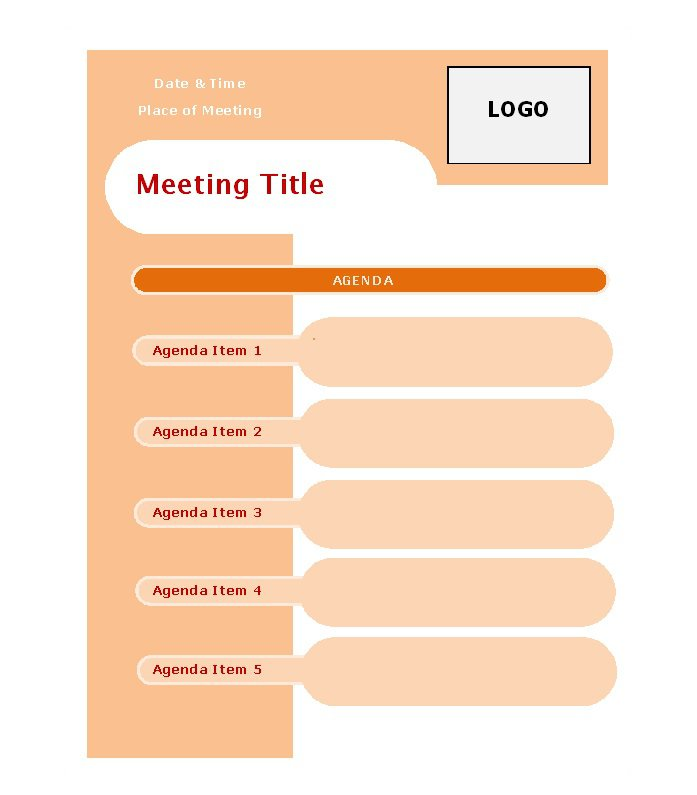 Informal Meeting Agenda Templates