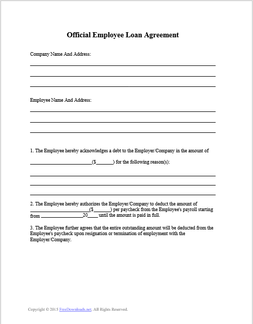 Loan Agreement Templates 25 Free Templates In Ms Word And In Pdf