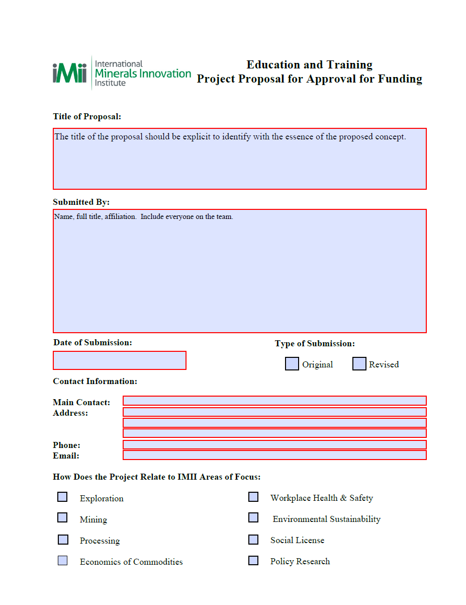 Project Funding Proposal Template 07