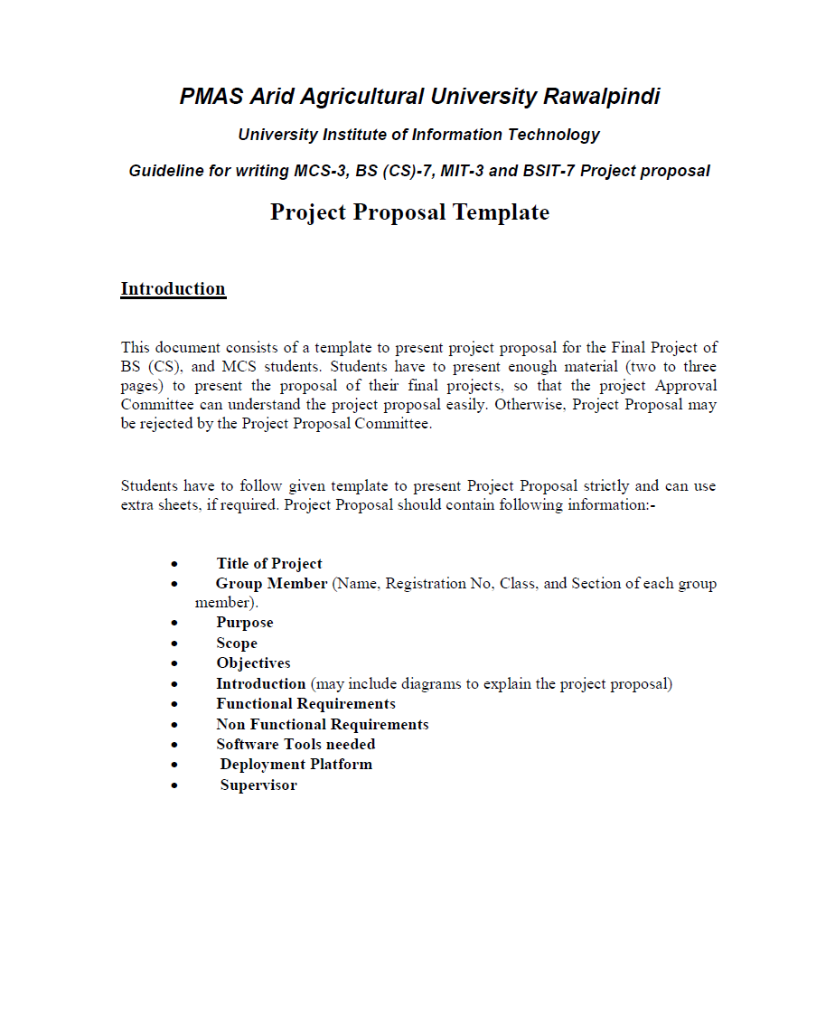Project Funding Proposal Template 12