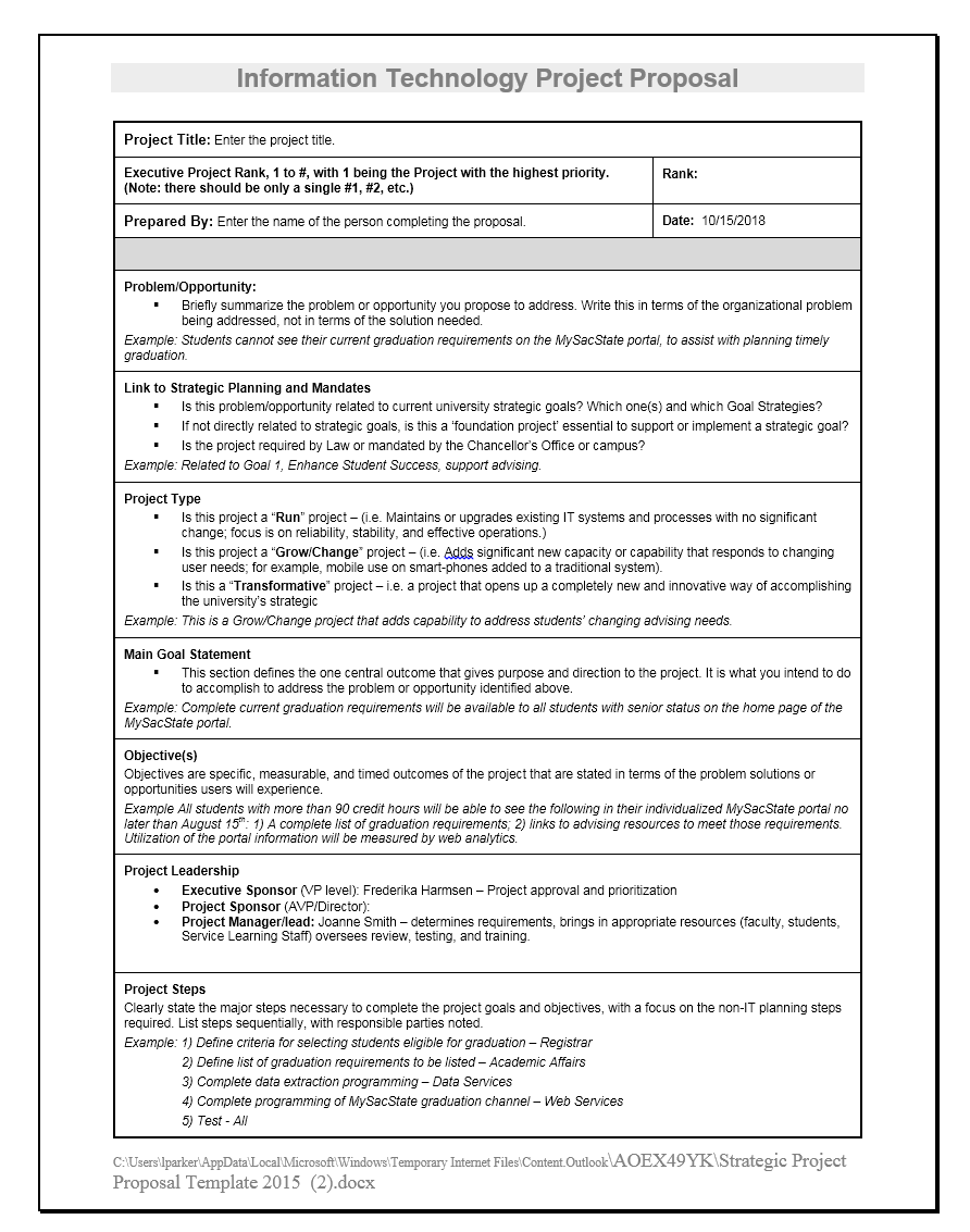 Project Funding Proposal Template 13