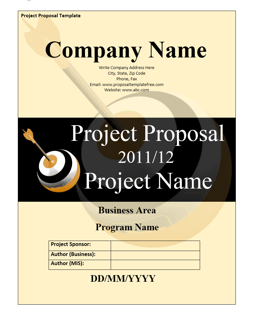 Project Funding Proposal Template 03