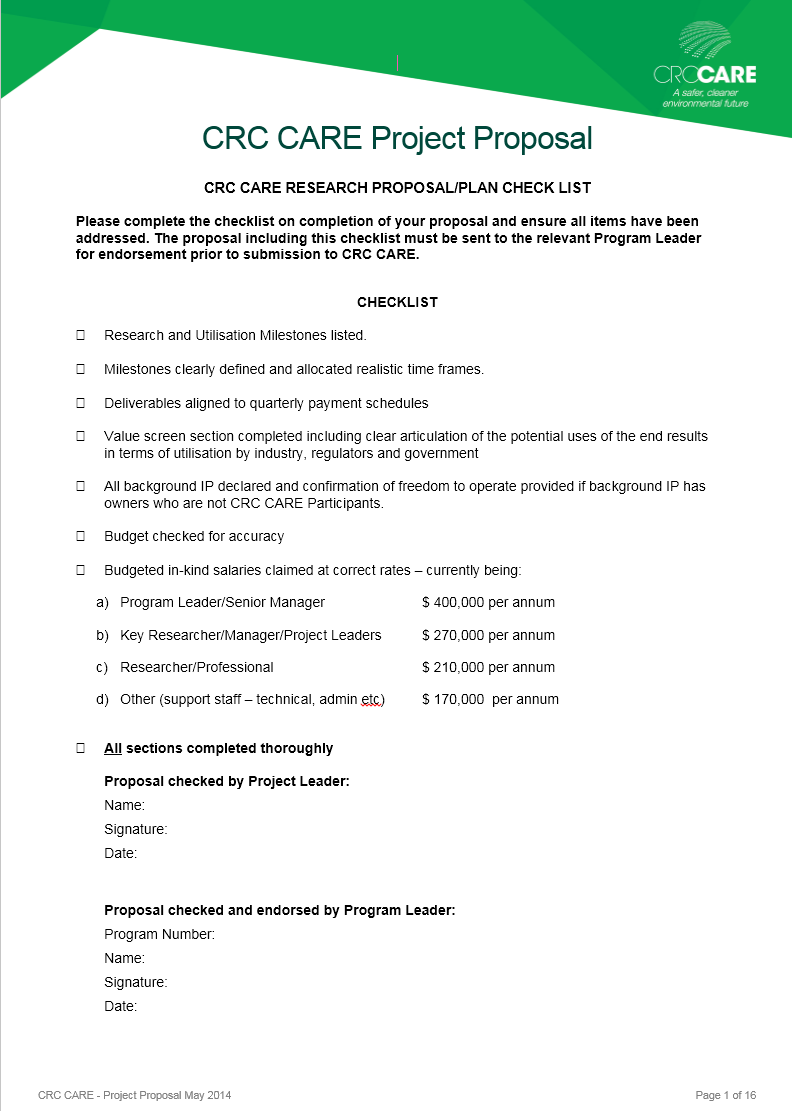 Project Funding Proposal Template 05