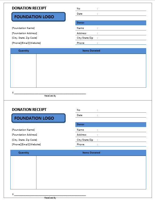 donation receipt template 03