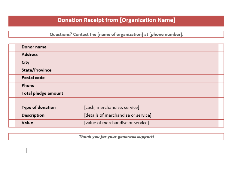 donation receipt template 08