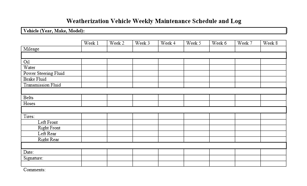 It's just a photo of Free Printable Vehicle Maintenance Log inside auto maintenance