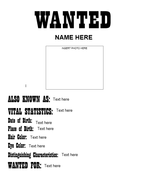 Wanted Poster Template 06