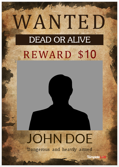 Wanted Poster Template 07