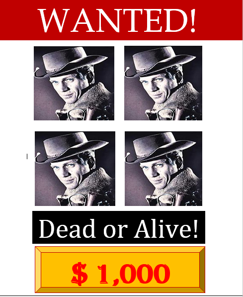 Wanted Poster Template 08