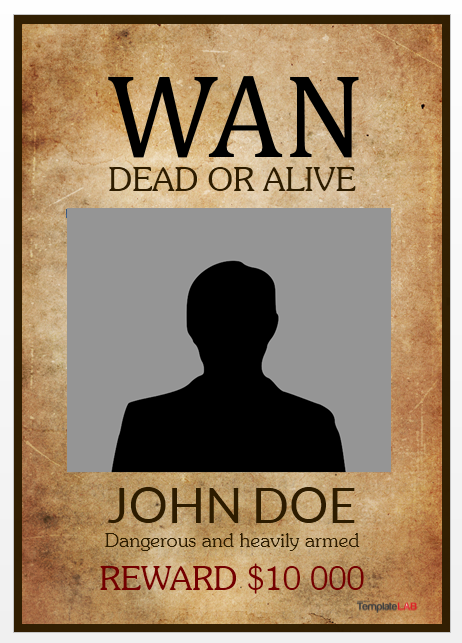 Wanted Poster Template 09