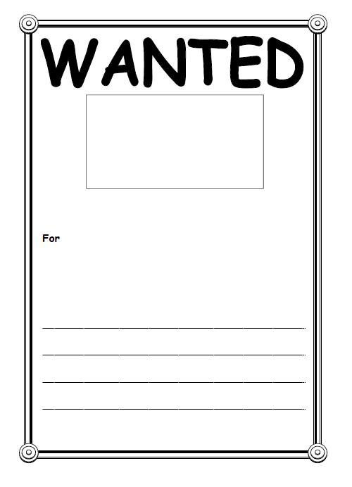 Wanted Poster Template 13