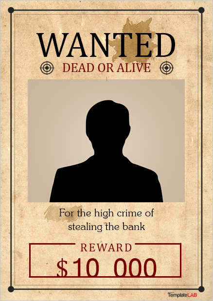Wanted Poster Template 14