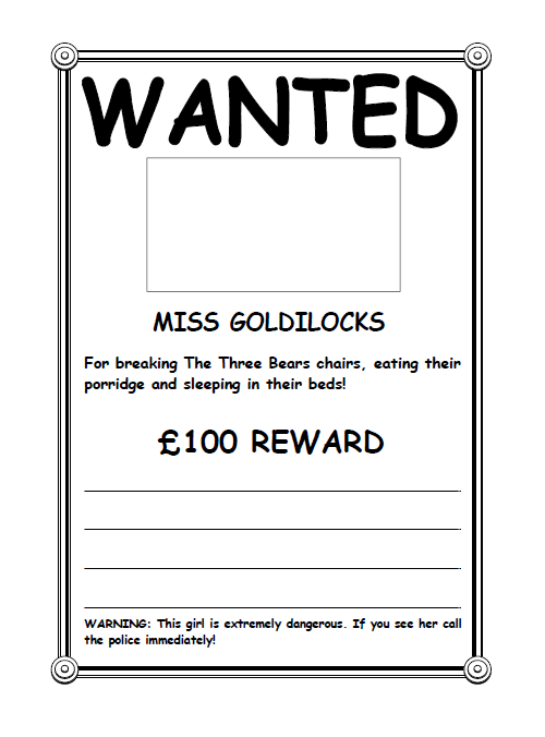 Wanted Poster Template 16