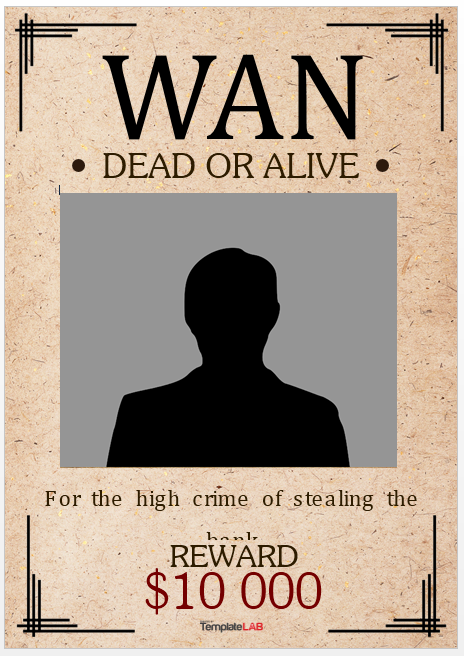 Wanted Poster Template 17