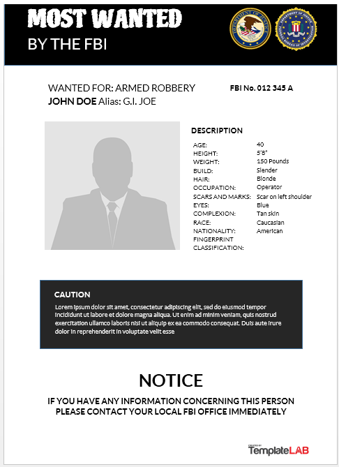 Wanted Poster Template 18