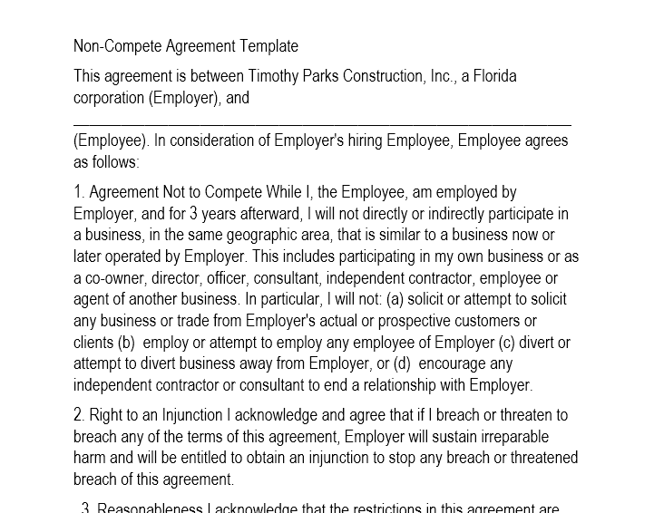 Employment Contract Template 01