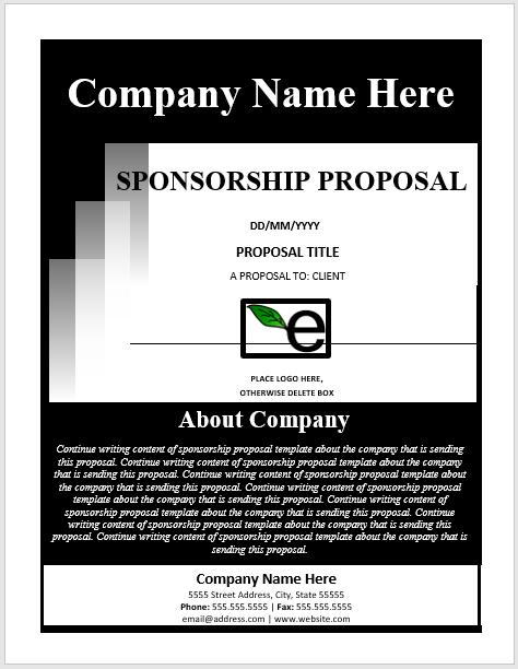 Sponsorship Proposal Template 02