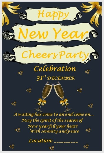 New Year Party Invitation Templates