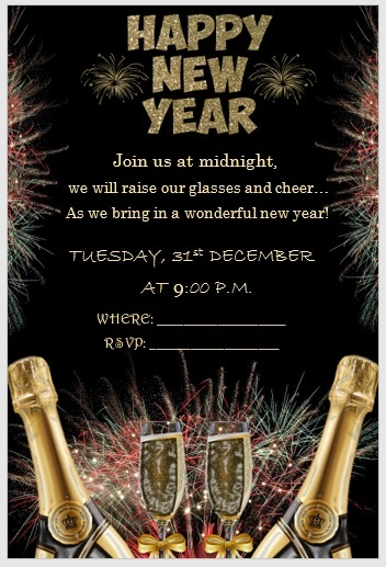 New Year Invitation Template 02