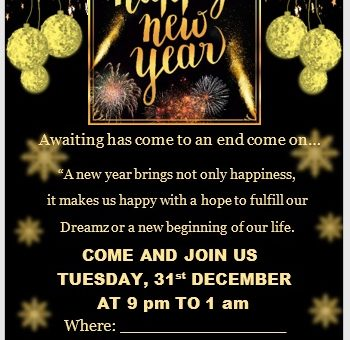 New Year Invitation Template 03