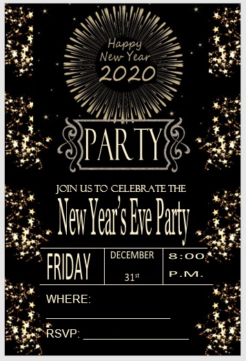 New Year Invitation Template 04