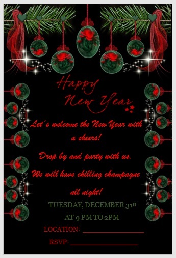 New Year Invitation Template 06