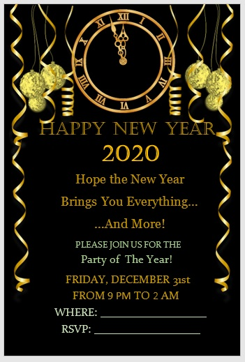 New Year Invitation Template 07