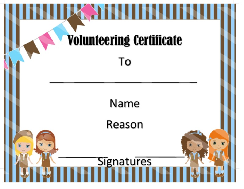 Volunteer Certificate Template 03