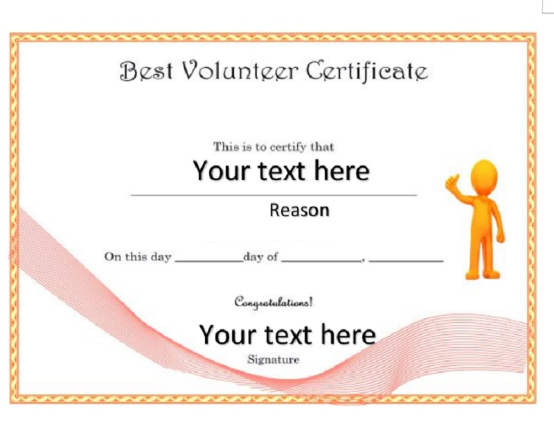 Volunteer Certificate Template 04