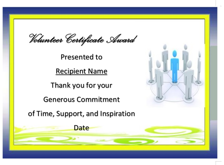 Volunteer Certificate Template 06
