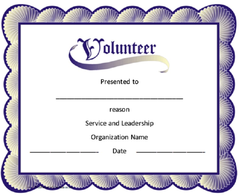 Volunteer Certificate Template 07