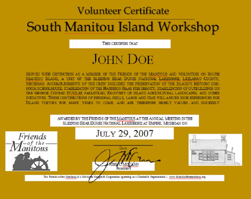 Volunteer Certificate Template 08