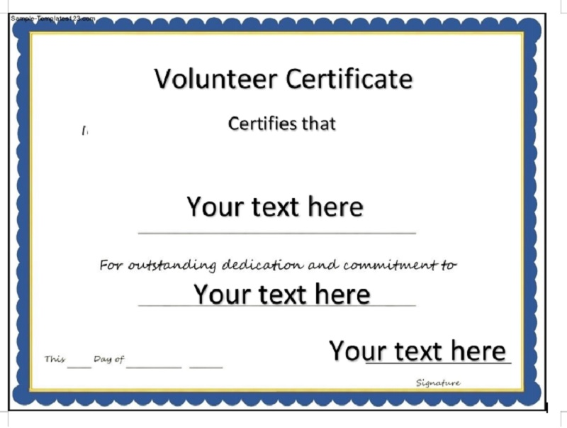 Volunteer Certificate Template 09
