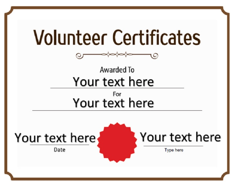 Volunteer Certificate Template 10