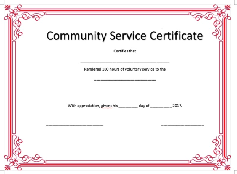 Volunteer Certificate Template 11