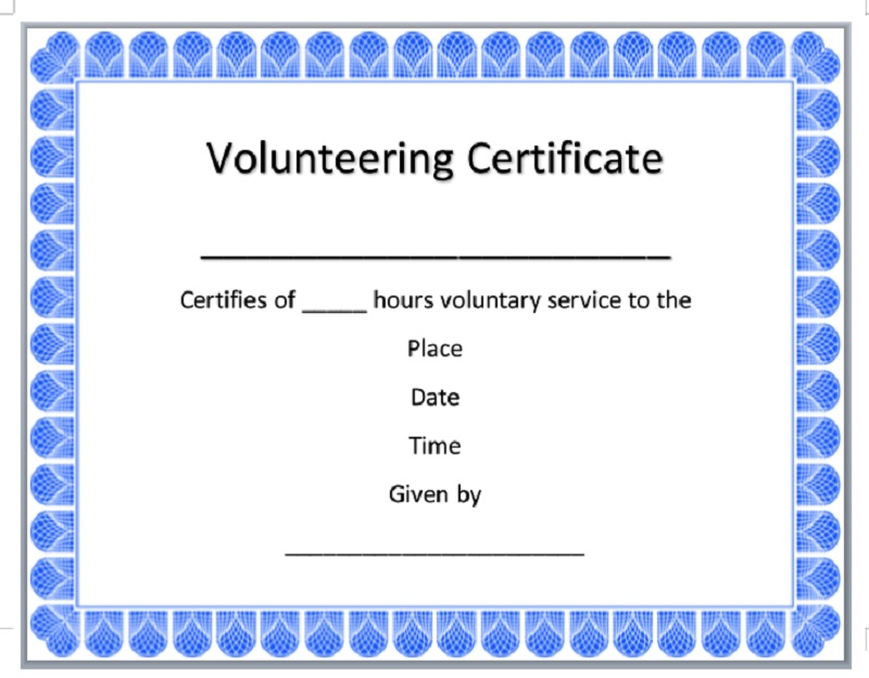 Volunteer Certificate Template 13