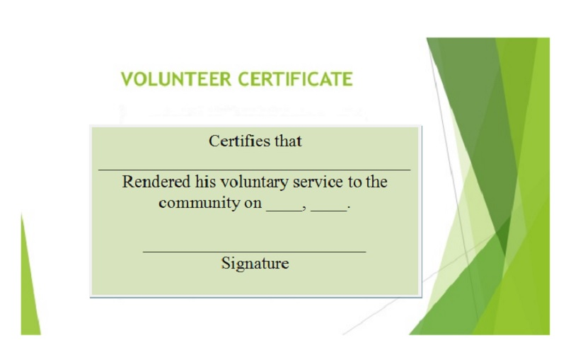 Volunteer Certificate Template 15