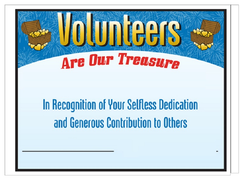 Volunteer Certificate Template 18