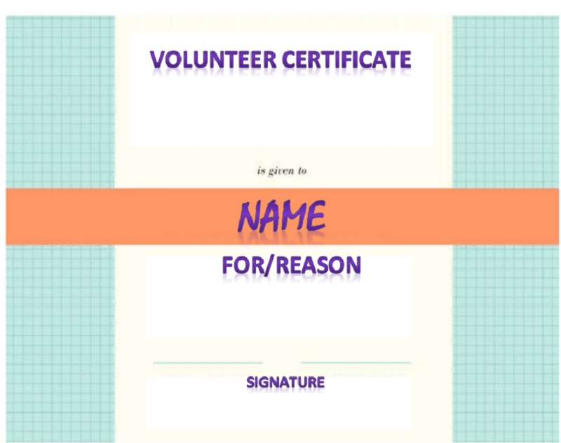 Volunteer Certificate Template 19