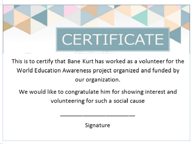 Volunteer Certificate Template 20