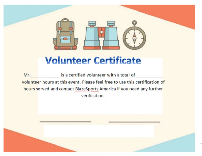 Volunteer Certificate Template 22