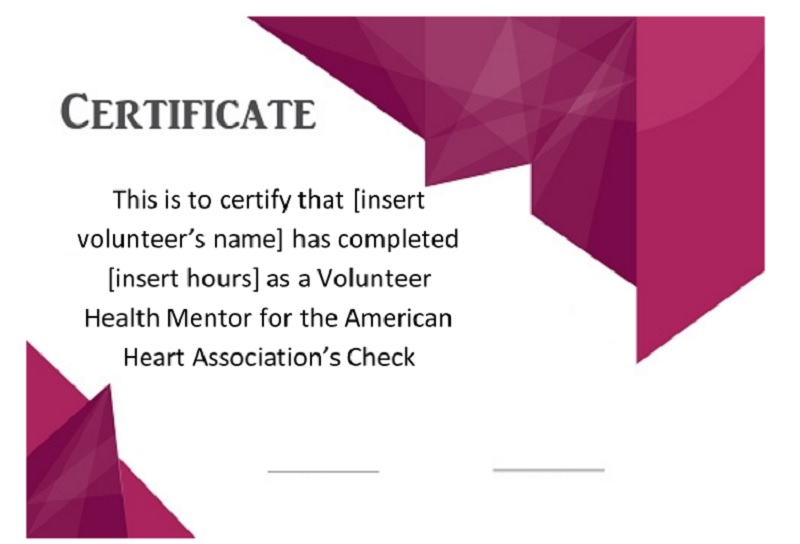 Volunteer Certificate Template 23