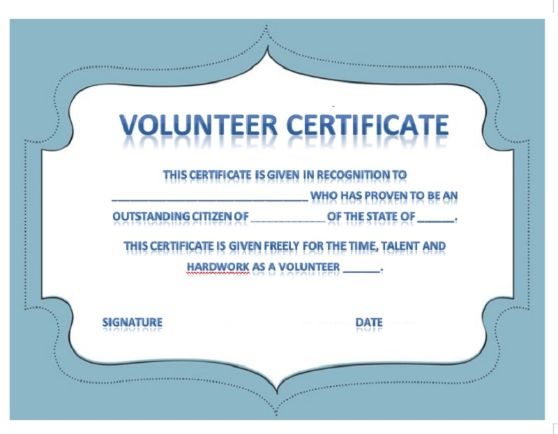 Volunteer Certificate Template 27