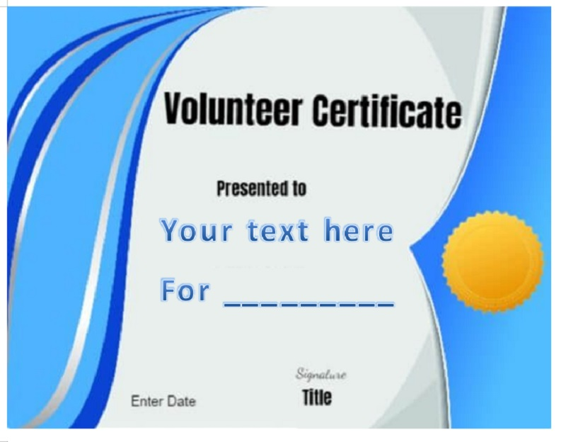 Volunteer Certificate Template 29