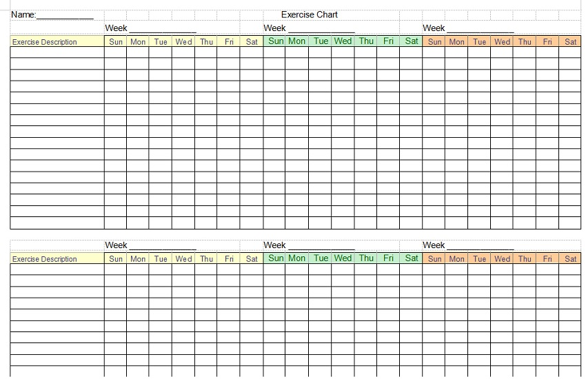 Weight Tracking Sheet Template 02