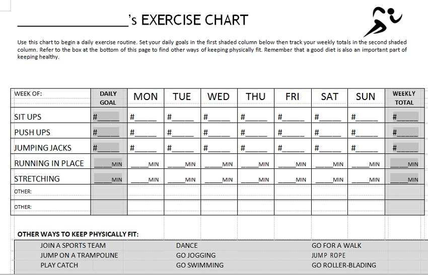 Weight Tracking Sheet Template 20