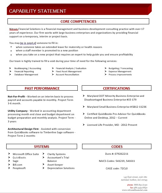 Capability Statement Template 01