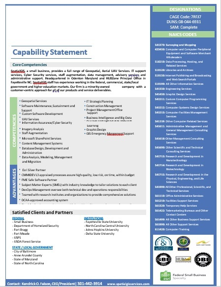 Capability Statement Template 06