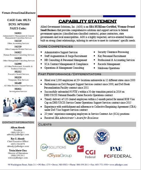 Capability Statement Template 14